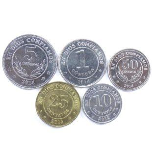Никарагуа. Набор монет 2012-2014 гг.