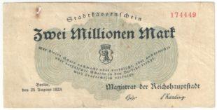 Германия. 2000000 марок 1923 г. Берлин