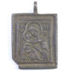 Икона подвесная «Владимирская Божья Матерь» 18 в.